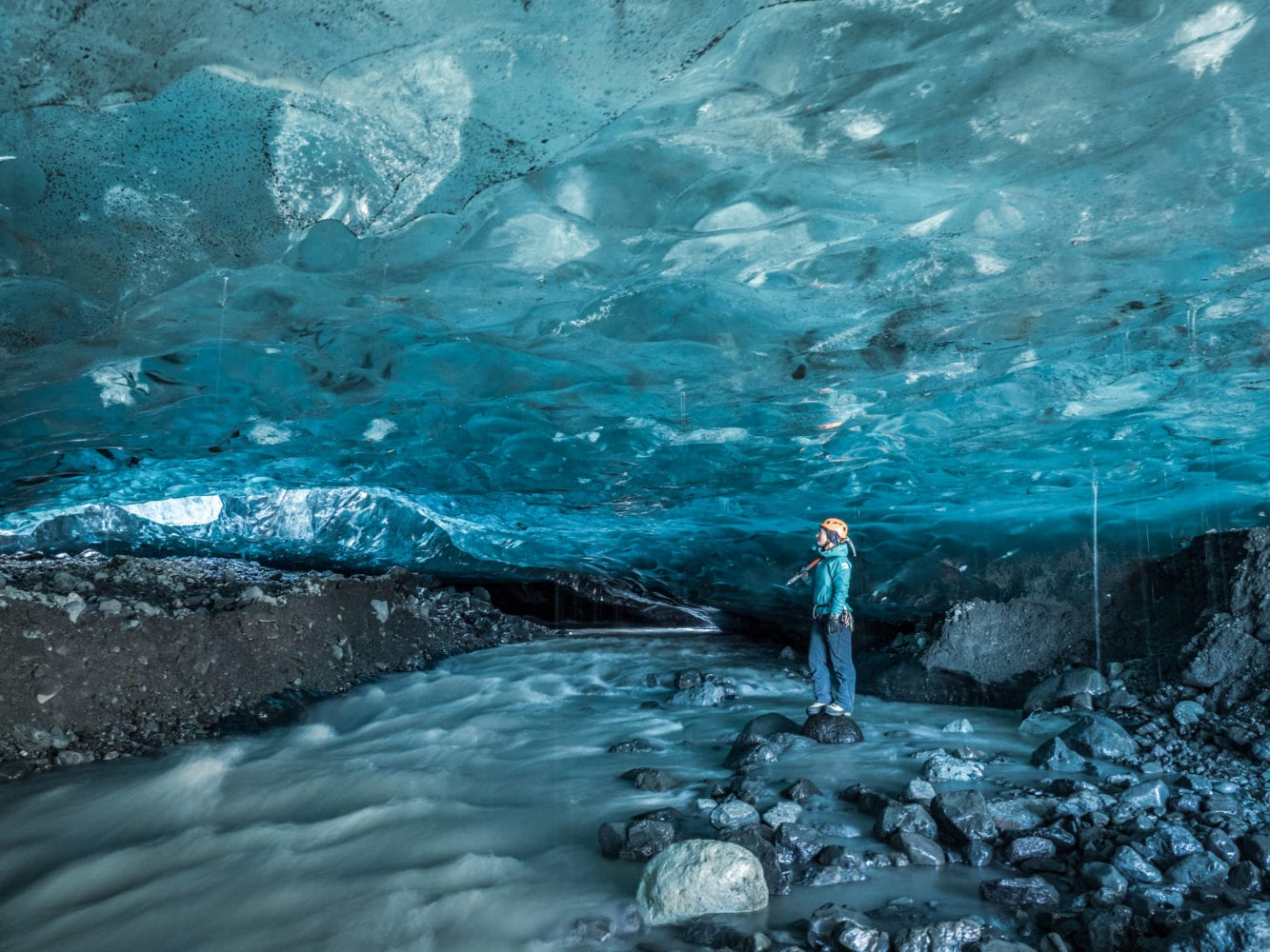 Crystal Ice Cave Adventure Iceland Travel
