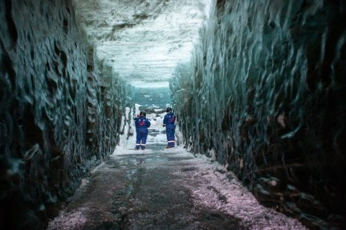 People in Ice Cave